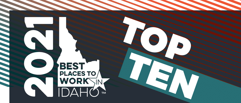 Voted top 10 places to work in idaho 2020
