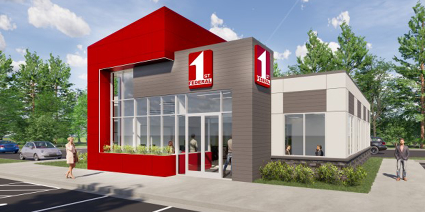 First Federal Render of New Office at Chinden Fox Run Branch